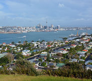 Auckland City vew from Mount Victoria, Devonport Stock Photo
