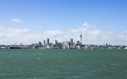 Auckland City View from Bayswater Wharf Auckland New Zealand. Also a Good Fishing Spot Royalty Free Stock Photography