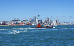 Auckland City View from Devonport Auckland New Zealand Royalty Free Stock Photography