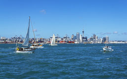 Auckland City View from Devonport Wharf Auckland New Zealand Royalty Free Stock Photos