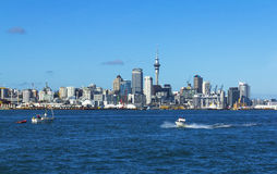 Auckland City View from Devonport Wharf Auckland New Zealand Stock Image