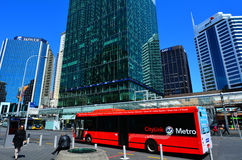 Auckland CityLink bus in Auckland New Zealand stock photos