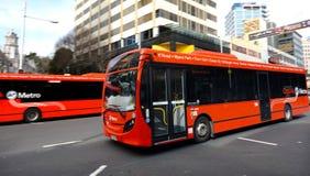 Auckland CityLink buss - Nya Zeeland Arkivfoto