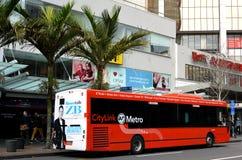 Auckland CityLink buss - Nya Zeeland Arkivbilder