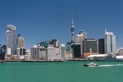 Auckland cityscape royaltyfri fotografi