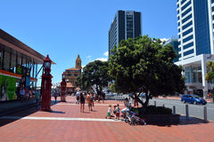 Auckland Cityscape - Ferry Terminal Royalty Free Stock Photography