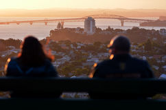 Auckland Cityscape - Harbour Bridge Stock Image