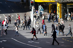 Auckland Cityscape - Queen Street Royalty Free Stock Photo