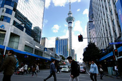 Auckland Cityscape - Queen Street Stock Images