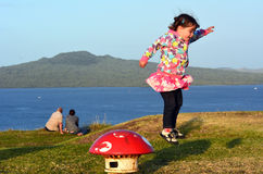 Auckland Cityscape - Rangitoto Island Royalty Free Stock Photo
