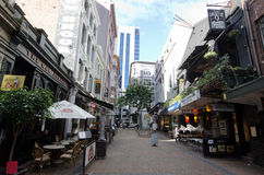 Auckland Cityscape - Vulcan Lane Stock Photography