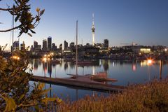 Auckland-Dämmerung Stockfotografie