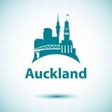 Auckland a détaillé la silhouette Photos stock