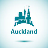 Auckland detailed silhouette. Stock Photos
