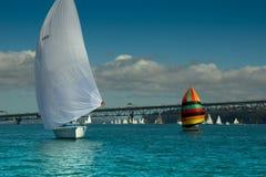 Auckland - die Stadt von Segeln Stockfotografie