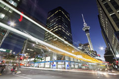 Auckland downtown at night Royalty Free Stock Photography