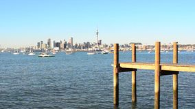 Auckland downtown skyline Stock Photos