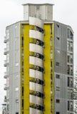 Auckland du centre ayant beaucoup d'étages avec l'escalier en spirale sur l'extérieur Photo stock
