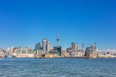 Auckland dzielnicy biznesu środkowy widok Fotografia Royalty Free
