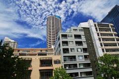 Auckland is een mooie stad in Nieuw Zeeland royalty-vrije stock afbeelding