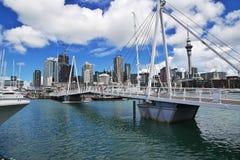 Auckland is een mooie stad in Nieuw Zeeland royalty-vrije stock fotografie