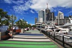 Auckland is een mooie stad in Nieuw Zeeland royalty-vrije stock foto