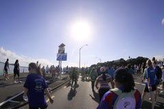 Auckland em volta da maratona dos louros fotografia de stock