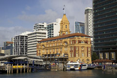 Auckland Ferry Building. Ferry Building, Auckland Harbour, North Island, New Zealand royalty free stock image