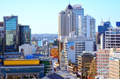 Auckland finansiell mitt Nya Zeeland Royaltyfria Bilder