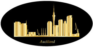 Auckland golden skyline Stock Photography