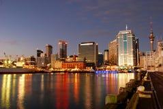 Auckland Habor in primo mattino immagine stock
