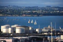 Auckland-Hafen Stockbilder