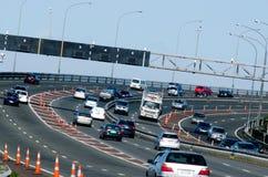 Auckland-Hafen-Brücke Lizenzfreie Stockfotografie