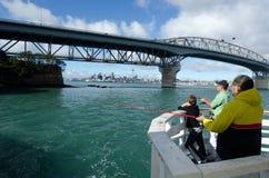 Auckland hamnbro Royaltyfri Fotografi