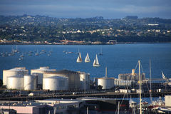 Auckland Harbor Stock Images