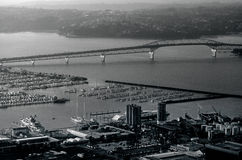 Auckland harbor bridge in Auckland New Zealand NZ Royalty Free Stock Photography