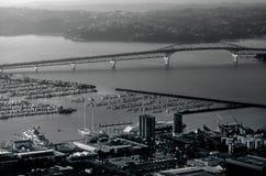 Auckland harbor bridge in Auckland New Zealand NZ Royalty Free Stock Photography