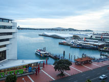 Auckland Harbor of New Zealand Royalty Free Stock Photography