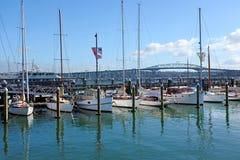 Auckland Harbour Bridge in Auckland New Zealand Stock Photo