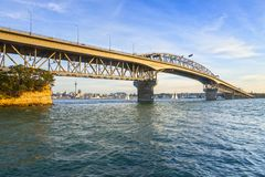 Auckland Harbour Bridge, Evening royalty free stock images