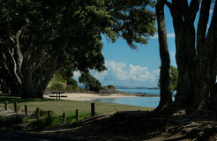 Auckland Harbour - Maraetai Beach Stock Image
