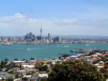 Auckland Harbour Scenic. A general view of the city of Auckland in New Zealand. Here you can see the harbour and city skyline Royalty Free Stock Images