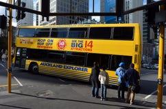 Auckland Hop On Hop Off Explorer tour bus -New Zealand Royalty Free Stock Photos