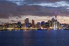 Auckland horisont Arkivfoto