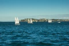 Auckland - la ciudad de velas Fotografía de archivo