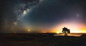 Auckland-Lichter Stockfotos
