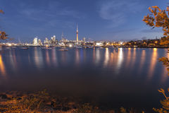 Auckland Lights and boats Royalty Free Stock Images