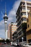 Auckland miasta, Auckland nieba wierza, Nowa Zelandia Zdjęcia Royalty Free
