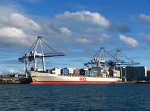 auckland miasta portu nabrzeże fotografia stock