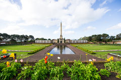 Auckland Monument. Flowers as prospects Monument In Auckland New Zealand Royalty Free Stock Photo